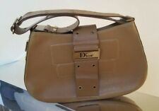 Dior Street Chic Columbus Beige All Leather Hand Bag Authentic Made In Italy