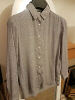 UNIQLO top blouse shirt floral print XS UK 8 US 4