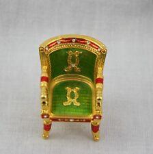 Edgar Berebi Limited Edition Miniature Chair Jeweled 24K Gold Green Red