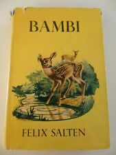 BAMBI, FELIX SALTEN, 1929, ILLUSTRATED - 1st G&D Edition HBDJ! KURT WIESE