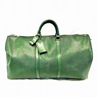 Louis Vuitton M42954 Keepall 55 Boston Travel Hand Bag Epi Green Leather Used