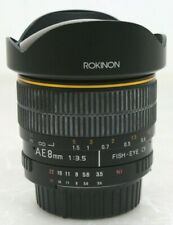 ROKINON  8mm f3.5 Aspherical High Definition Fisheye Lens for Nikon