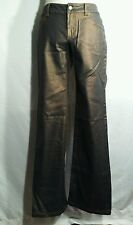 NWT $178 Y? Morrissey blue with gold shimmer cotton blend jeans size4 inseam 33
