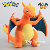 Rare PK CHARIZARD Plush Toy Soft Stuffed Animal Doll 13'' Figure Cool Teddy