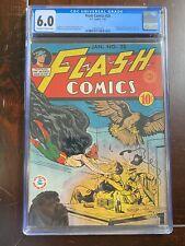 Flash Comics #25 (1942) CGC 6.0 - EXTREMELY RARE - Full Page Sensation Comics Ad
