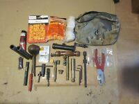 Lot Black Powder Shooting Accessories.Nipples/wrenches/Primer Disc/Pwdr Meas etc