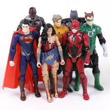 DC UNIVERSE - SET 7 FIGURAS / CYBORG, BATMAN, SUPERMAN, ETC / 7 FIGURES SET 16cm
