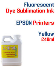 Fluorescent Dye Sublimation Ink - Yellow 240ml All Epson printers