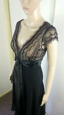 Womans Dress 6 Black Formal Wedding Beaded Sexy V Neck Spring Races Bnwt Cocktai