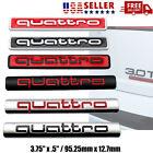 For Audi Quattro Emblem Red Black Rear Liftgate Trunk Badge Oem A3 A4 A5 A6 Q5