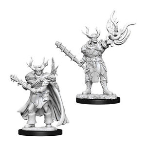 Wizkids Pathfinder Battles Deep Cuts Unpainted Male Half-Orc Druid Figure Se NEW