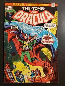 Tomb of Dracula 12 (1973) FVF (7.0) high grade 2nd app Blade|