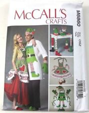 McCall's M6860 Sewing Pattern Crafts Christmas Aprons Hats Oven Mitts Size OSZ