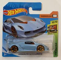 2020 Hotwheels 'Lamborghini Sesto Elemento Blue HW Exotics! Mint! MOC!