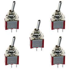5 x On/Off Mini Miniature Toggle Switch Model Railway SPST