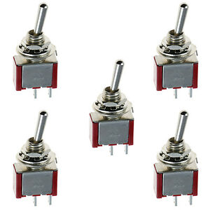 Lighting Switch X 5 OFF ON Miniature Toggle Switch Model railway SPDT ON