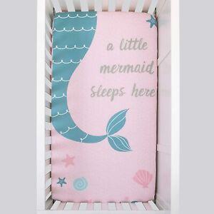 "NoJo Sugar Reef Mermaid Photo Op 100% Cotton Fitted Crib Sheet, 52"" x 28"""