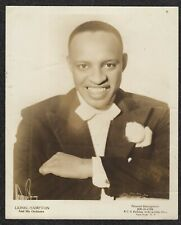 LQQK vintage 1940s original photo,  LIONEL HAMPTON jazz musician #82