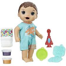 Baby Alive Snackin' Luke Brunette Super Snacks Pretend Play Doll Hasbro DEALS