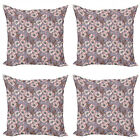 Ambesonne Vintage Retro Cushion Cover Set of 4 for Couch and Bed in 4 Sizes
