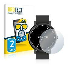 2x Display Schutz Folie für Armbanduhren (Kreisrund, Durchmesser: 37 mm) Matt