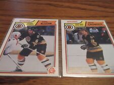 VINTAGE LOT OF (2) BOSTON BRUINS HOCKEY CARDS NM/MT FREE SHIPPING