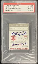 Carl Yastrzemski Signed Ticket 3000 Hit Autograph Gem Mint 10 PSA/DNA Red Sox 2
