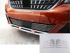 For Peugeot 3008 GT 2016 2017 Steel Front Bottom Grille Grill Cover Trim 10pcs