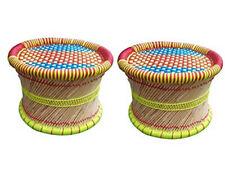 Eco-Friendly Handicraft Cane Bar Bamboo Muddhi Outdoor/Indoor/Furnishing 2 Pcs.