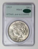 Peace Silver Dollar 1923 P PCGS MS-64  CAC