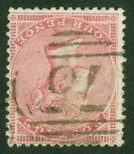 SG 66a 4d rose variety. Inverted watermark. Fine used '75' numeral...