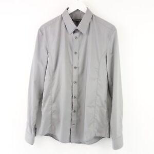 Drykorn Herren Hemd Jake Baumwolle Grau Gr 42 Langarm Business Kragen Np 89 Neu