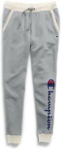 Women's Champion Powerblend Oxford Grey / Oatmeal Jogger Sweatpants Size Medium