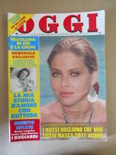OGGI n°31 1987  Ornella Muti Marilyn Monroe a 25 anni dalla morte  [G802]