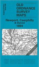 OLD ORDNANCE SURVEY MAP NEWPORT, CAERLEON, CAERPHILLY, TREHARRIS & DISTRICT 1894
