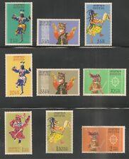 Bhutan #15-23 (A5) VF MNH - 1964 2ch to 2nu Bhutanese Dancers