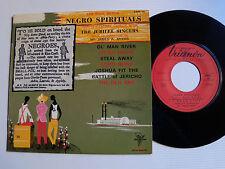 "THE JUBILEE SINGERS: Ol' man river (6 negro spirituals) 7"" EP 1965 TRIANON 4532"