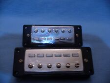 MINI HUMBUCKER PICKUPS BRAND NEW  PAF STYLE + MOUNTING RINGS  USA SHIPPING