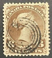 "Canada Scott #27 VF ""Large Queen Used ST21"
