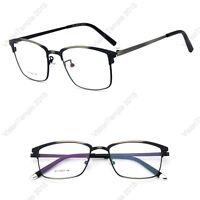 Designer Brown Frame FullRim Glasses Metal Eyewear Vintage Spectacles Clear Lens