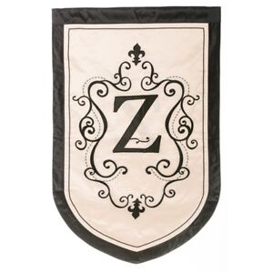 """REDUCED from $39.95 -  Estate Size Monogram """"Z"""" Double Applique Flag (36""""x54"""")"""