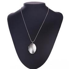 925 SILBER PL Damen Medallion XL Anhänger Amulett Talisman Kette Foto Medaillon