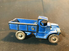 "Old Vtg 1930's Antique Cast Iron Blue Delivery Pickup Truck 3 1/2"" x 1 1/2"""