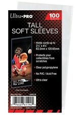 Ultra Pro 2 1/2 x 4 3/4 Soft Card Sleeves for Tallboy trading cards, 100 count