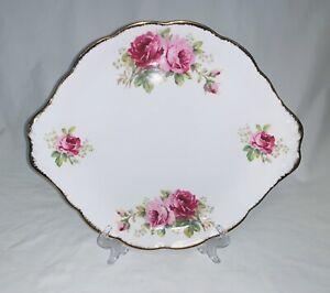 Royal Albert - American Beauty, tab handled cake / gateau plate. Mint condition