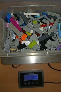 LEGO 0,60 Kilo - KG Platten farblich bunt gemischt 1x1 bis 2 x 16 - Paket 3