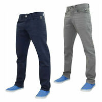 Mens Straight Leg Jeans Regular Fit Comfort Cotton Denim Pants Casual Trousers