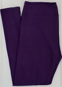 OS LuLaRoe One Size Leggings Beautiful Solid Dark Indigo Purple NWT 58
