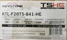 New listing Keystone Ktl-F28T5-841-He T5 28W 4100K 2725 Lumens (Bid Is For 1 Box)