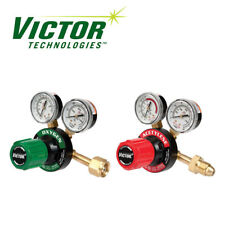 2Pc Victor Oxygen Acetylene Welding Regulator Gauges Low Profile